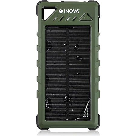 INOVA(イノバ) ソーラーバッテリー 16000mAh モバイルバッテリー USB2ポート 3.4A 耐衝撃 防水 防塵 IP67 LEDライト スマホ 3R-WT16 3R SYSTEMS カーキ