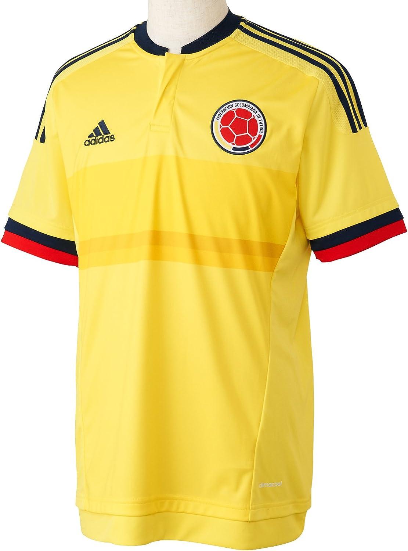 adidas Kurzarm Trikot Kolumbien Replica Spieler-Heim Camiseta Oficial 1ª Equipación Federación Colombiana de Fútbol, Hombre: Amazon.es: Ropa y accesorios