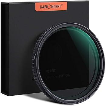 Neutral Graufilter 52mm K&F Concept Nano Slim ND Filter ND2-ND32 Verstellbar ND2 ND4 ND8 ND16 ND32