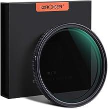 K&F Concept 77mm Fader ND Filter Neutral Density Variable Filter ND2 to ND32 for Camera Lens NO X Spot,Nanotec,Ultra-Slim,Weather-Sealed