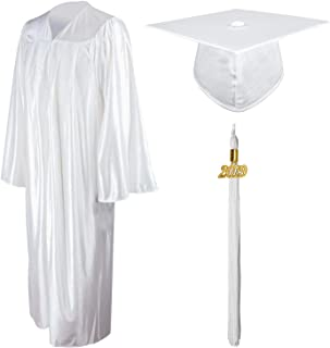 Shiny Graduation Gown Cap Tassel Set 2019 for High School