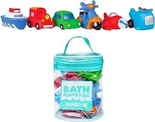 Waddle Transportation Bath Squirter Toys Boys Cars Trucks 6 Pack Bathtime Gift