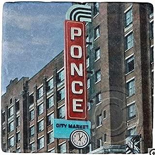 Ponce City Market, PCM, Atlanta, Landmark. Marble, Stone, Coaster. Mix and Match To Make A Set.