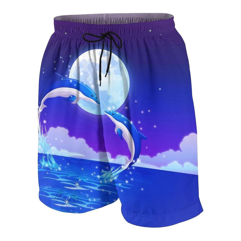 ボーイズ ハーフパンツ 海パン ドルフィンハート ショーツ ゴムウェスト 水陸両用 ビーチパンツ 通気 速乾 水泳 スイミング ウェア 7-20歳が適当