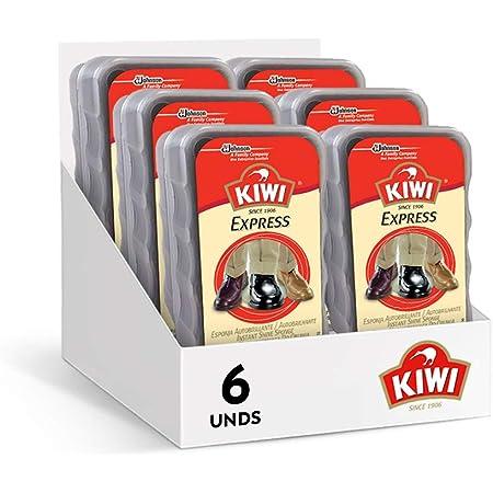 Kiwi - Esponja autobrillante, para todo tipo de calzados, Limpia y da brillo a todos los colores, 50gr, Pack de 6 Unidades