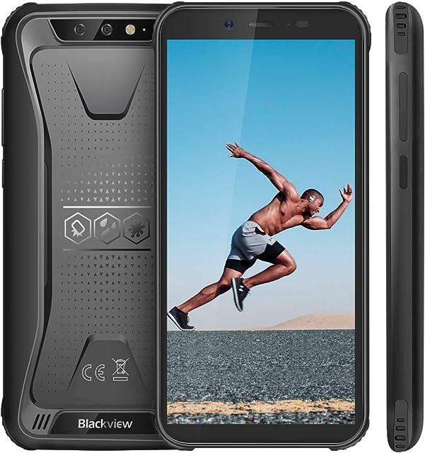 Blackview BV5500 (2020) Móvil Libre Resistente IP68 Impermeable Smartphone de 5.5 (13.9cm) Dual SIM 2GB + 16GB Android 8.1 Doble Cámara de 8MP+0.3MP y 5MP 4400mAh Batería GPS - Negro