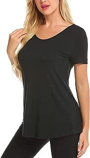 Women's Summer Short Sleeve Backless Criss Cross Yoga Tops Workout Shirts