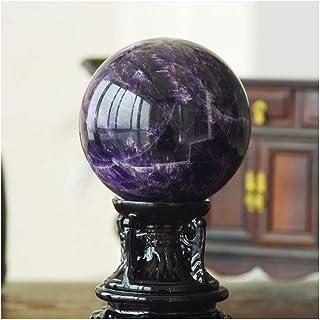 クリスタルボール ピュアナチュラルクリスタルボールパープルひびが入ったクリスタルガラス玉オフィス移転ボールラッキーボール風水ギフトデコレーション クリスタル透明ボール (サイズ : 10cm)
