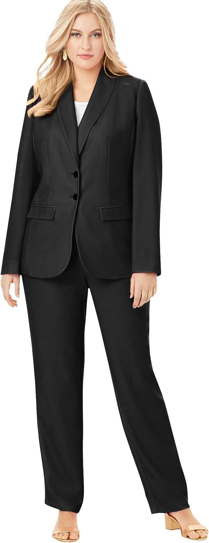 Jessica London Women's Plus Size Single-Breasted Pant Suit Set
