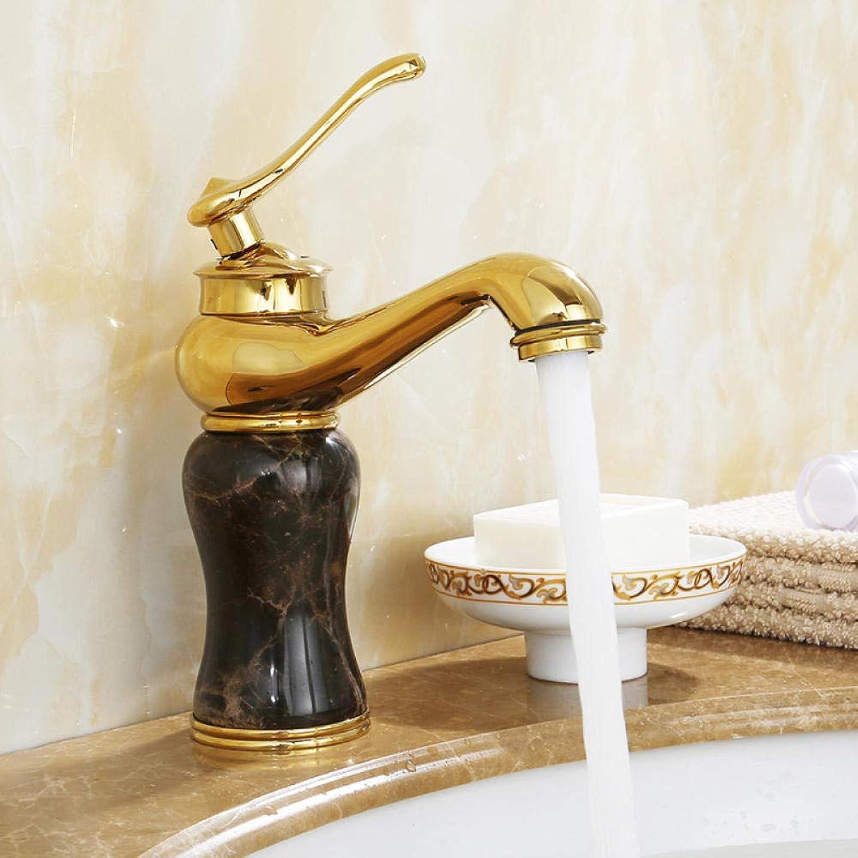CZOOR Europischen stil kupfer antiken wasserhahn waschbecken hei und kalt roséGold badezimmerschrank Gold jade wasserhahn einlochmontage c441