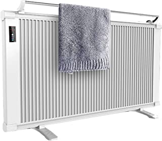 XLOO Electric Infrared Space Heater,Convection Heater Panel,with Clothes Rail,Carbon Fiber Fast Heating, Safe, Silent, Aluminum Panel, Detachable Base. Heating Area 20