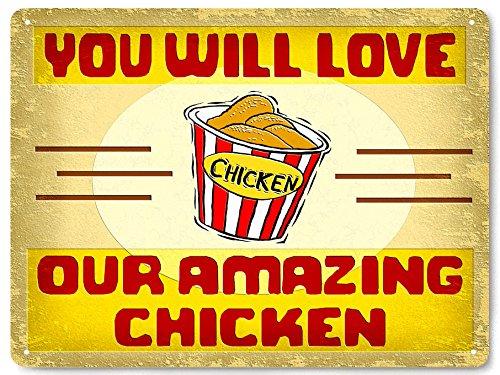 Diseño con texto en inglés pollo frito bonzza KFC/fiambrera con forma de botella de pared decor cierre hermético store 241 pata de cabra
