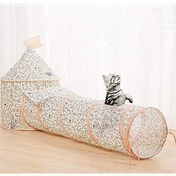 BeneBomo 猫用おもちゃ ペットのおもちゃ トンネル 猫用 テント 折り畳み 猫のテント 猫用ハウス ペット用テント 猫の巣 ボール付