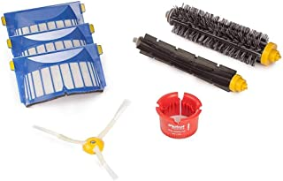 Best iRobot 4636432 Authentic Replacement Parts- Roomba 600 Series Replenishment Kit (1 bristle brush, 1 beater brush, 1 spinning side brush, 3 AeroVac filters, and 1 round cleaning tool),White Review