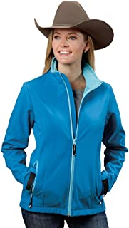 Roper Women's Softshell Bomber Jacket Blue Outerwear MD