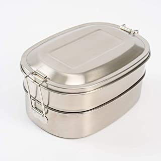 Stainless Steel Lunch Box 3 Compartment Metal Bento Lunch Box Container For Kids Adults