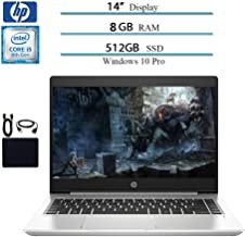 2019 Premium HP ProBook 440 G6 14 Inch HD Laptop Business Notebook, Intel Core i5-8265U (up to 3.90 GHz), 8GB DDR4 RAM, 512GB SSD, WiFi, Bluetooth, HDMI, Windows 10 Pro W/ Accessories Bundle