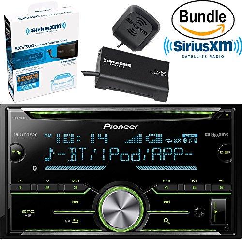 Pioneer FH-X730BS Vehicle CD Digital Music Player Receivers, Black & SiriusXM SXV300V1 Tuner and Antenna (SiriusXM Value Bundle)