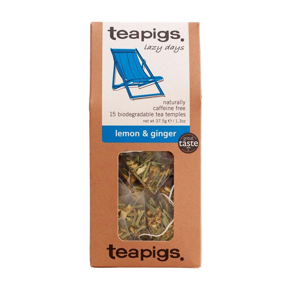teapigs Lemon Ginger Herbal Tea Regular Virginia Beach Mall store Bags Made Leaves 1 With Whole