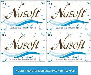 Nusoft moisturizer soap - moisturizer soap(pack of 4)75g