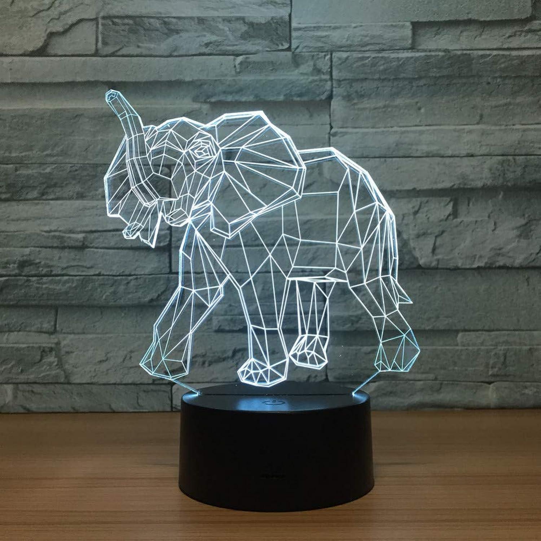 Laofan 3D Elefant Lampe led USB nachtlichter mit 7 Farben Lampe für hauptdekoration Geschenke für Jungen mdchen,Fernbedienung