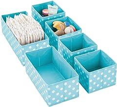 mDesign Soft Fabric Dresser Drawer, Closet Storage Organizers for Child/Kids Room, Nursery, Playroom - Holds Boys, Girls, ...