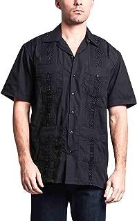 Men's Guayabera Premium Lightweight Embroidered Pleated Cuban Shirt
