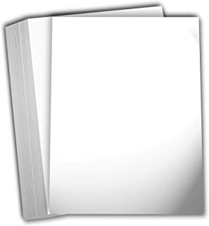 Hamilco White Glossy Cardstock Paper 11x17 100 lb Cover Card Stock 50 Pack