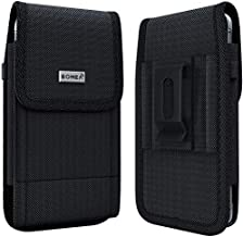 Bomea iPhone Xs Max Holster, iPhone 8 Plus 7 Plus Belt Clip Case, Rugged Tactical Cell Phone Pouch Holster Case w/Belt Clip for Apple iPhone Xs Max/8 Plus/7 Plus/6S Plus (Fits Phone w/Case on)