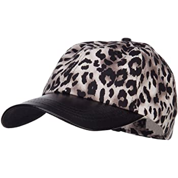 NEW WOMEN /& YOUTH LEOPARD PRINT FUR BASEBALL STYLE CAP HAT S//M WOMAN L YOUTH