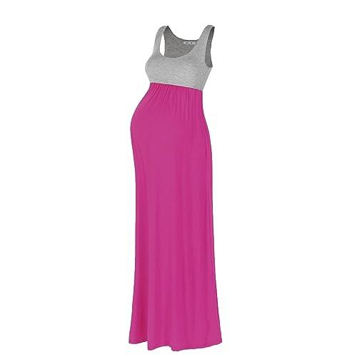 4fb25a864 Beachcoco Coco Women s Maternity Contrast Maxi Tank Dress