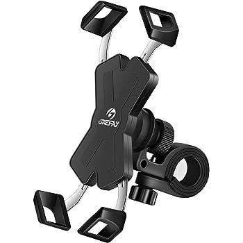 Grefay Supporto Telefono Bicicletta Metallico Motociclo Cellulare Titolare per Monopattino Elettrico Manubrio con 360° Rotazione 4.0-7.0 Pollici