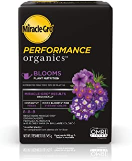 Miracle-Gro Performance Organics Blooms Plant Nutrition - Plant Food with Organic Ingredients Feeds Instantly, for Floweri...