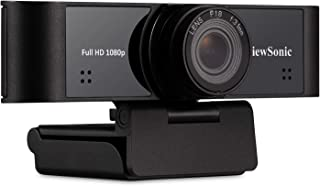 ViewSonic VB-CAM-001 1080p Ultra-Wide USB Camera with Built-in Microphones Compatible with Windows and Mac, Black