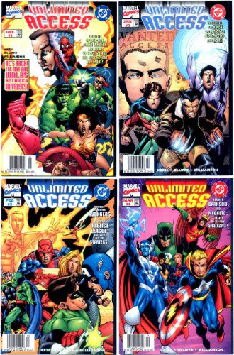 Unlimited access (dc/marvel) #1-4 complete limited series (marvel comics - dc comics 1997 - 4 comics)