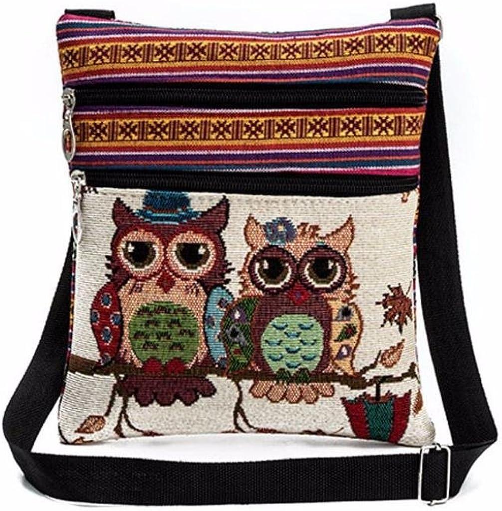 Tuduz Damen Bestickte Eule Tragetaschen Schultertasche Handtaschen Postbote Paket Messenger Tasche Umhängetasche A Schuhe Handtaschen