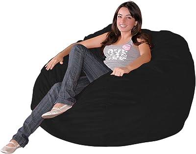 Cozy Sack 3-Feet Bean Bag Chair, Medium, Black