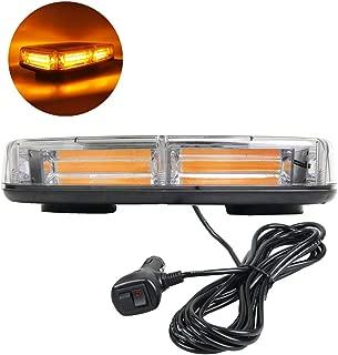 Marsbeam 12V COB LED Emergency Hazard Warning Abmer Yellow High Intensity Mini Bar Strobe Light with Magnetic Base
