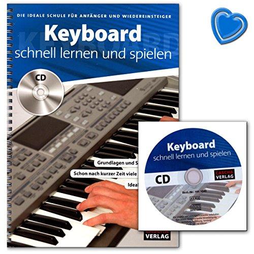 Keyboard schnell lernen und spielen - mit dieser Schule kannst du bereits nach kurzer Zeit die ersten Songs auf deinem Keyboard spielen - Lehrbuch mit CD und Notenklammer - HH1040-9783866264366