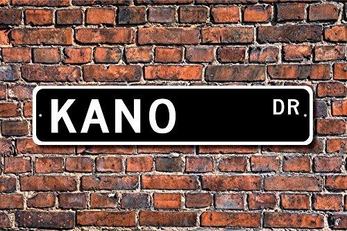Fhdang Decor Kano, Kano Sign, Kano Cadeau, Kano Visiteur, Souvenir de Kano, Nigeria City, Kano natif, Ville du Gabon, Plaque de Rue personnalisée, Plaque en métal, 10,2 x 45,7 cm