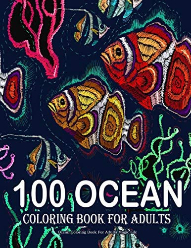 Ocean Coloring Book For Adults Magic Life Sea Creatures life Adult Coloring Book with Sea Animals product image