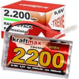 Batteria Kraftmax RC Racing Pack con spina Tamiya (9,6V, 2200mAh (min 2000mAh NiMH)