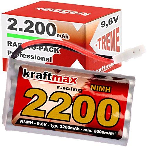 Kraftmax Akku Racing-Pack mit Tamiya Stecker - 9,6V / 2200mAh (min 2000 mAh) NiMH Akku/Hochleistungs RC Akkupack