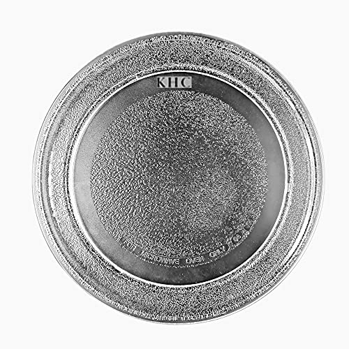 KHC Microwave Glass Oven Replacement Turntable Rotating Glass Plate/Tray with Plain Bottom...