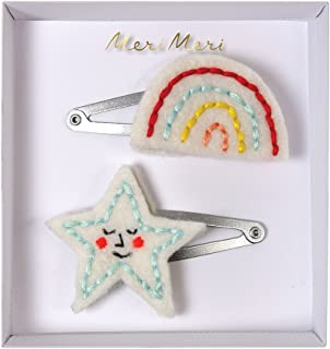 Meri Meri Embroidered Rainbow & Star Hair Clips