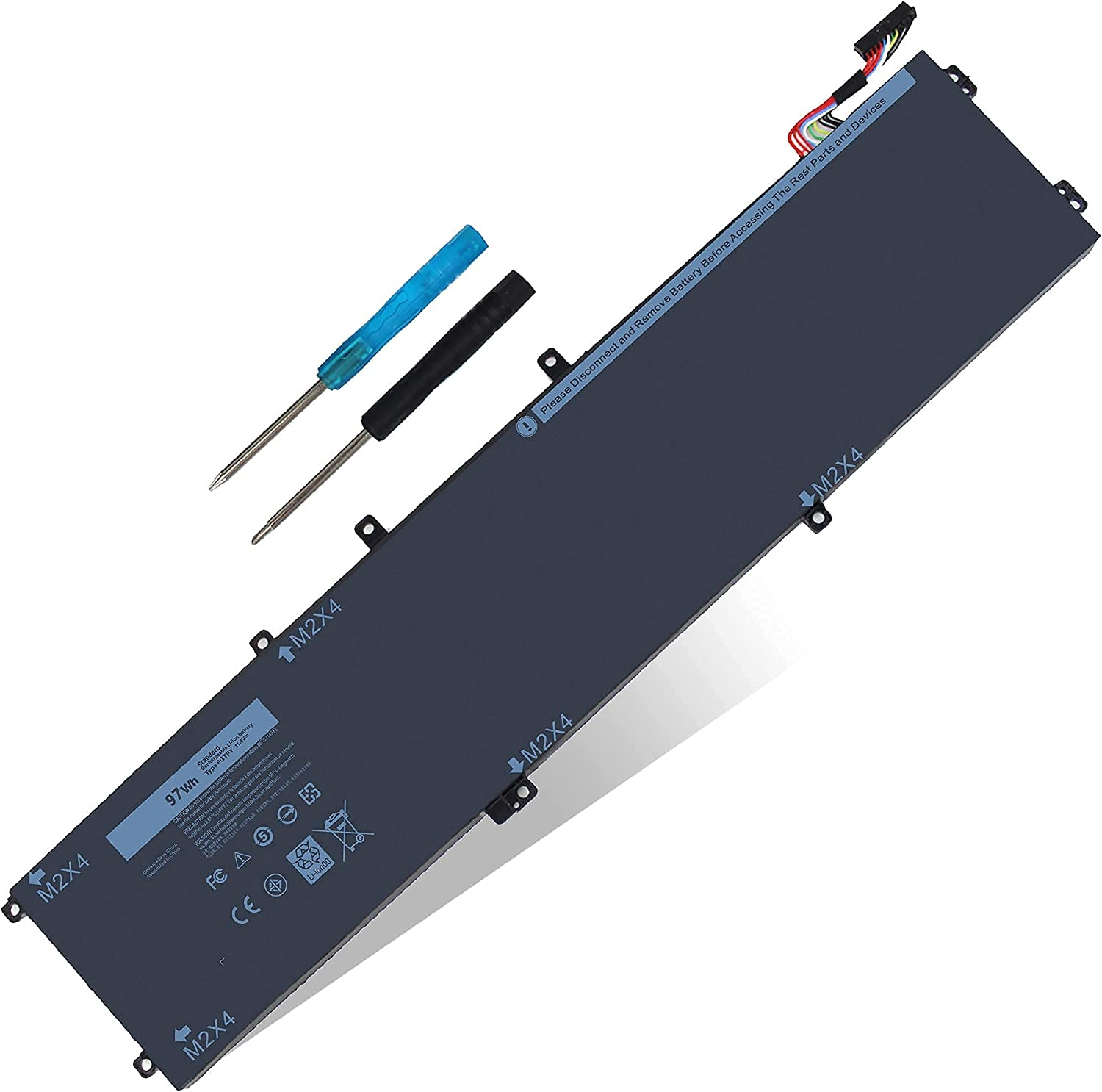 97WH Mail order cheap 6GTPY Battery for Max 63% OFF Dell 9560 XPS 15-9560-D1 15 15-9560-D1745