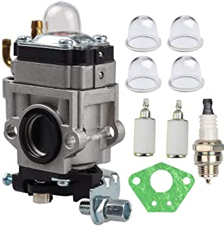 New Carb Carburetor for 43cc 47cc 49cc 50cc 2 Stroke Pocket Bike ATV Stand-up Scooters Dirt Bikes Mini Quad Gas Scooter 15mm Intake Hole with Bulb, Fuel Filter, Spark Plug