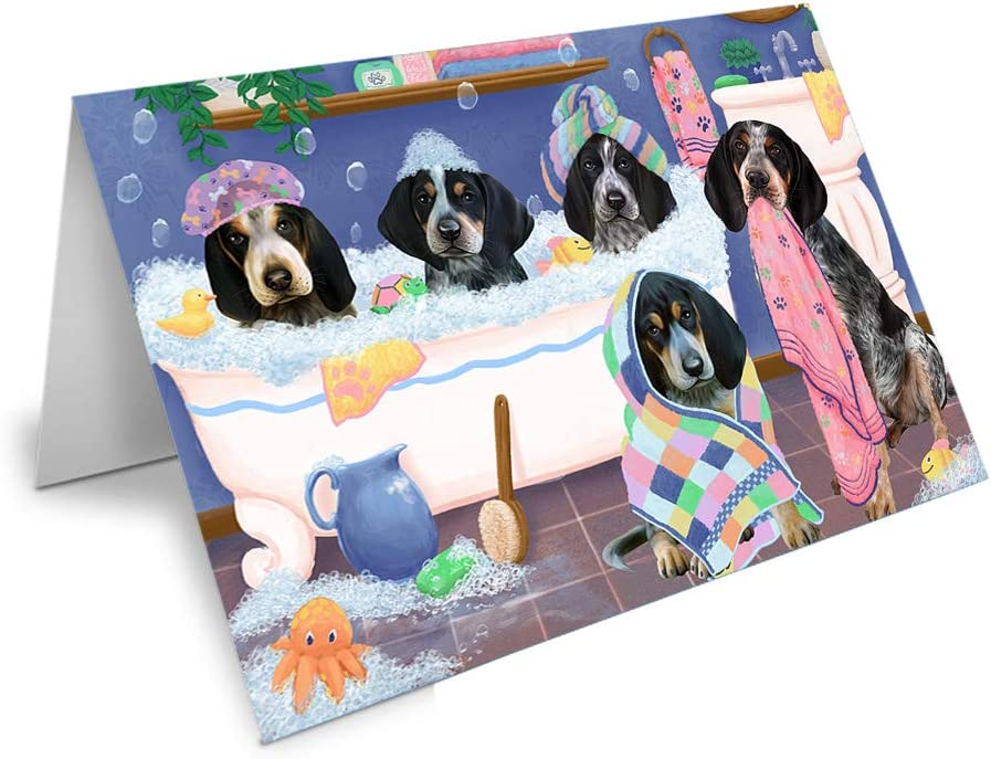 Rub A Special sale item Dub Dogs in Tub GC Bluetick Department store Greeting Coonhounds Card Dog