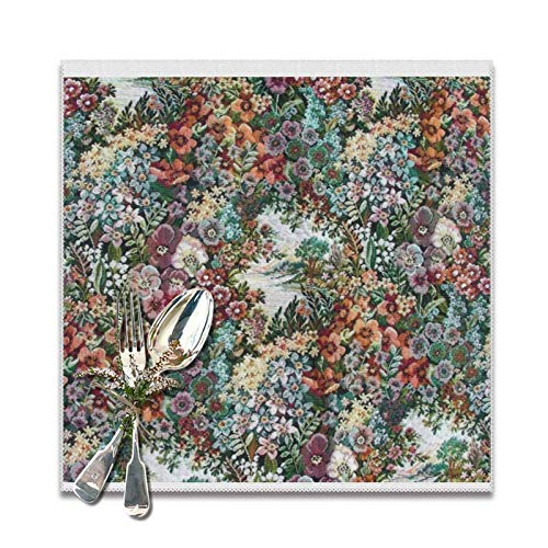 Lou Chapman Floral Tapestry Manteles Individuales para Mesa de Comedor, Juego de...