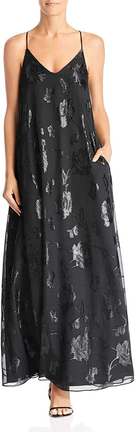 LAUNDRY BY SHELLI SEGAL Women's Floral Trapeze Gown (2, Black)
